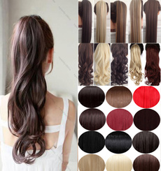 wig, brown, pony, human hair