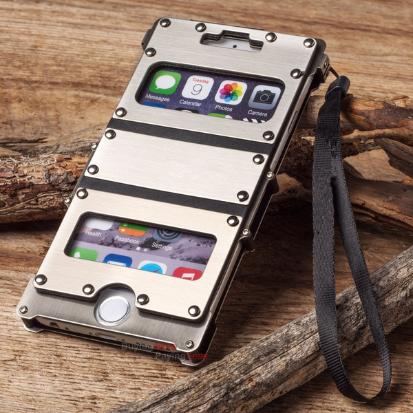 on sale 49268 15906 Metal Case For iPhone X 10 8 Plus Outdoor 360 Degree Protect Phone Armor  Defender Rivet Metal Aluminum Rugged Flip Kickstand Case Cover For iPhone 7  ...