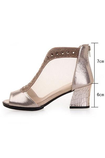 De Grueso Abierta Baile Puntera Mujer Zapatos Wish Tacon Con qpTSE