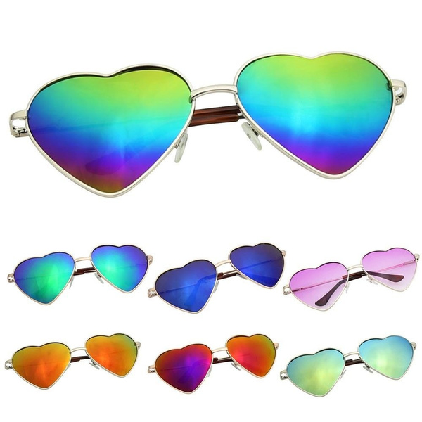 Picture of Vintage Lolita Heart Shaped Gradient Shades Sunglasses