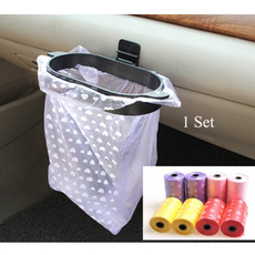 1Set Car Trash Hanger + 2Rolls Rubbish Bags Eco-friendly 1Roll 20Pcs (Color Black only include hanger without bags)