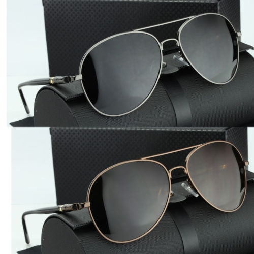 Picture of New Mens Hd Polarized Aviator Sunglasses Outdoor Driving Mirror Eyewear