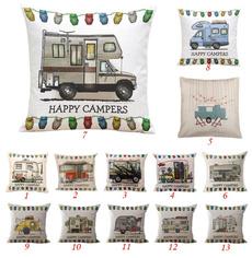 Cartoon  Bus motorcycle Pillow Cover Simple Pillowcase Cotton Linen Hugging Pillow Cases Home Decorative