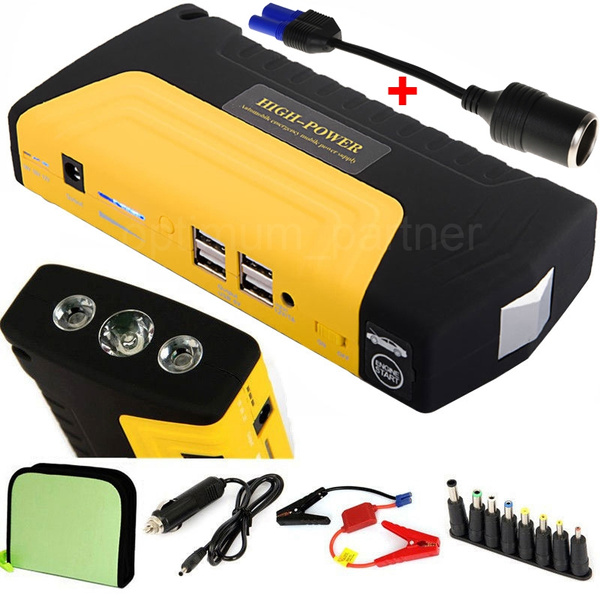 68800mAh 4 USB Car Jump Starter Emergency Charger Booster Power Bank