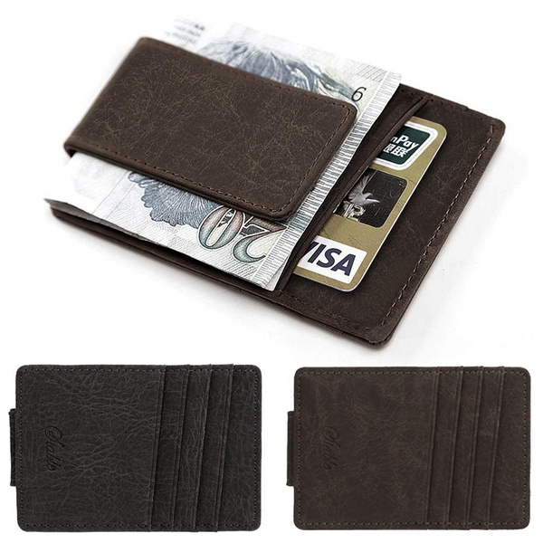 Picture of Men Business Casual Synthetic Leather Wallet Credit Card Id Holder With Magnet Money Clip