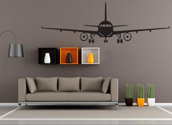 Wish | 3d Airplane Wall Stickers Muraux Wall Decor Airplane Wall Art ...