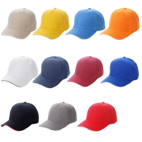 87724453c New Unisex Plain Baseball Sport Cap Blank Curved Visor Hat Solid Color  Velcro Adjustable Vogue (Color:Beige,Yellow,light Blue,Orange,White,Dark ...