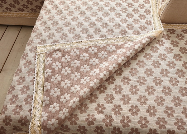 Wish Cotton Linen Fabric For Sofa Cover Towel With Lace Covers Sectional Slip Plain Corner