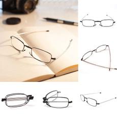 New Folding Reading Glasses Rotation Eyeglass +1.5 +2.0 +2.5