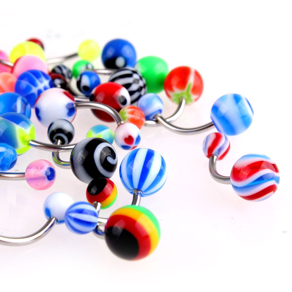 New Charm Sexy Belly Bars Body Piercing Button Ring Navel Jewerly 30pcs