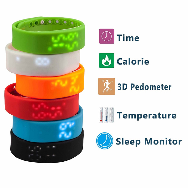 Picture of Silicone Sport Smart Wristband Led Wrist Watch Pedometer Sleep