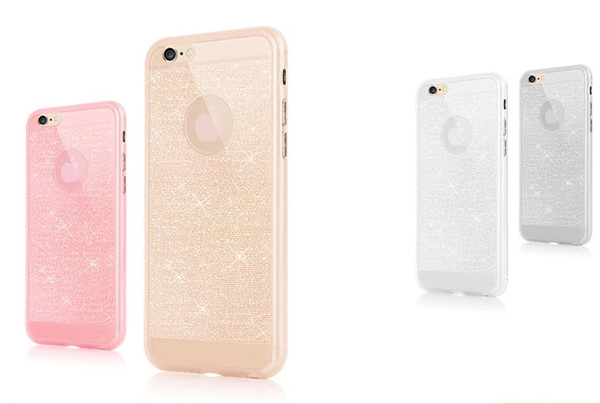 For iphone 5 5S 6 6S 6 plus 6s plus case mobile phone accessories TPU soft shining golden Bling cover phone case