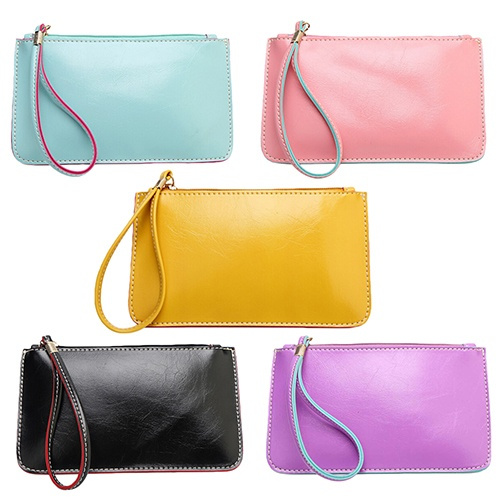 Picture of Women's Candy Color Purse Id Card Phone Holder Coin Bag Clutch Handbag