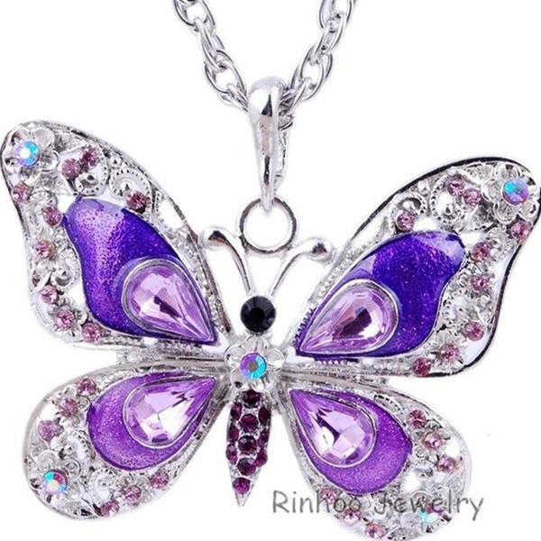 Chain, crystalbutterfly, butterflynecklace, butterflyrhinestonechain