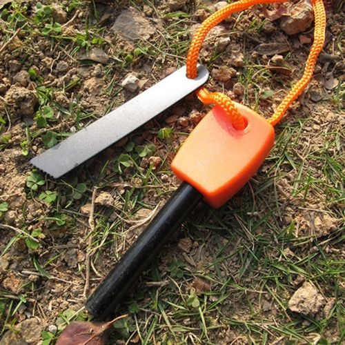 Portable Camping Hunting Magnesium Flint And Steel Striker Survival Fire Stick
