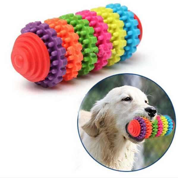 New Durable Rubber Pet Dog Puppy Cat Dental Teething Healthy Teeth Gums Chew Toy WIZH