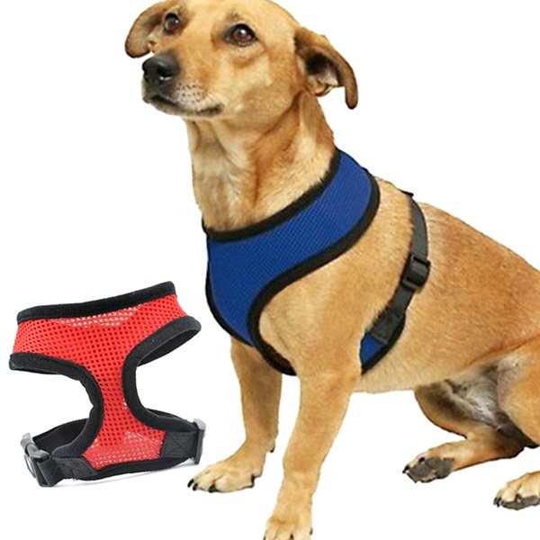 Adjustable Soft Air Mesh Pet Dog Puppy Doggie Step in Vest Mesh Walking Harness