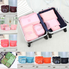 6Pcs Clothes Storage Bags Packing Cube Travel Home Clothing Organizer Color Randomly
