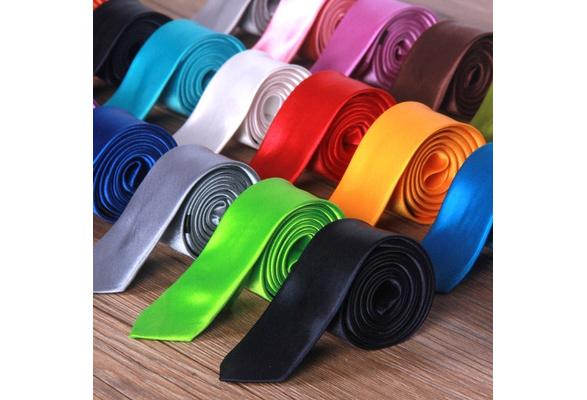 Hot Sale Fashion Casual Slim Tie Men's Solid Color Skinny Necktie Formal Wedding Party Ties For Men