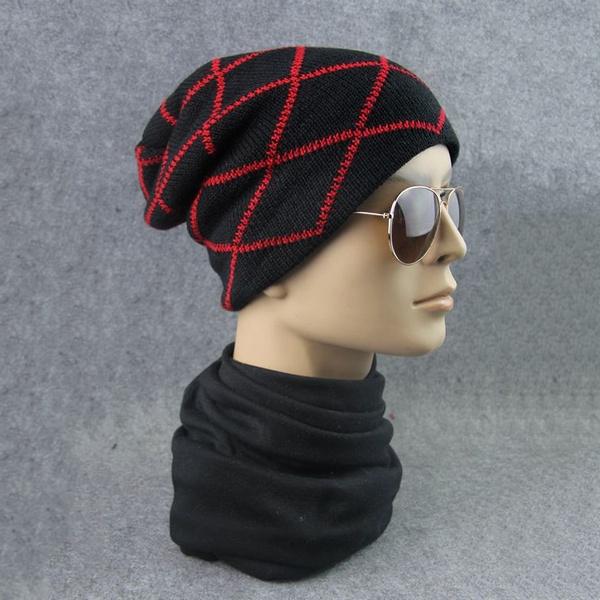 Wish   Homme Femme Béret Chapeau Bonnet Casquette à Carreaux Crochet Tricot  Chaud Hiver dae96ff470d