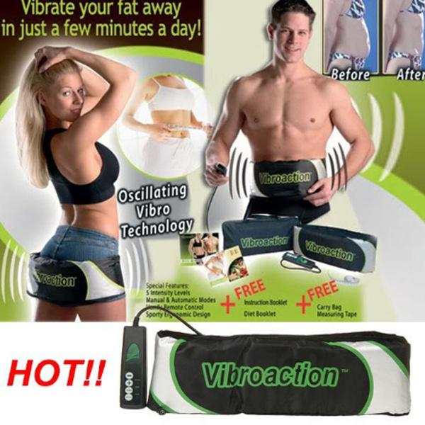 VIBRATION Electric Vibrating Slimming Massager Health Fitness Fat Burner Belt