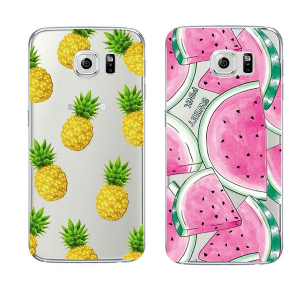 Picture of Fruit Pineapple Transparent Plastic Case Cover Coque For Apple Iphone 4 4s 5 Se 5s 5c 6 6s 6 Plus 6s 7 Plus Case For Samsung Galaxy A3 A5 2015 2017 Grand Prime Care Prime J5 S3 S4 S6 S6 S7 S7 Edge Note 3 Note 4 Note 5 Fundas