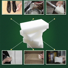HOT High Qulity White 10pcs Magic Sponge Eraser Cleaner Home Kitchen Office Car Dirty Cleaning Tool (Color: White)