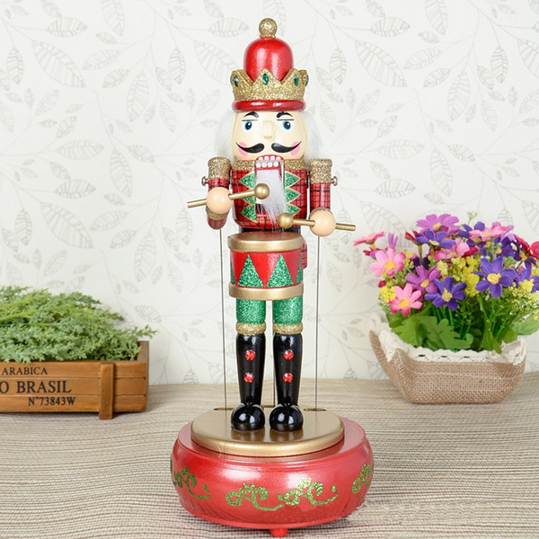 Picture of Wooden Nutcracker Drummer Music Box
