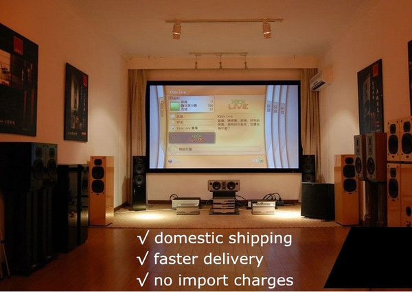 Picture of Excelvan Portable 60 Display 169 Aspect Ratio Manual Office Video Projection Screen For Business Education Home Theater Gaming