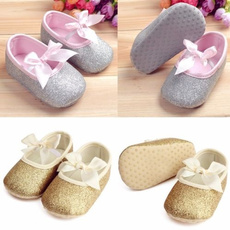 Baby Kids Girls Toddler Infant Newborn Bowknot Soft Ribbon Antislip Shoes 0-18 M