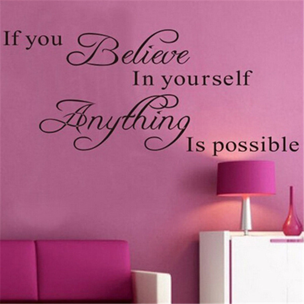 Wish | New English Poetry Believe In Youself Proverbs Wall Stickers ...