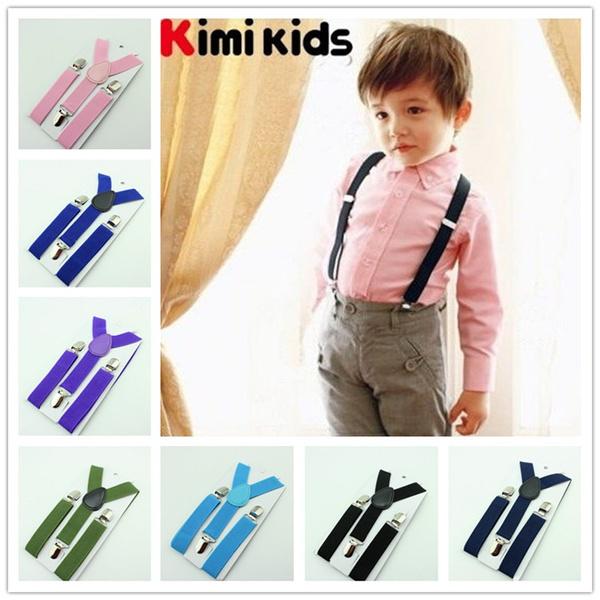 USEFUL KIDS BOYS GIRLS Y-BACK SUSPENDER CHILD ELASTIC ADJUSTABLE CLIP-ON BRACES