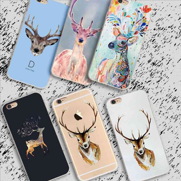Picture of Hand Painted Lovely Cartoon Moblie Phone Case For Iphone 5 5c 6 6s 6 Plus 7 7plus Samsung Galaxy S5 S6 S6 Edge S7 Edge S8 Plus Note 5 4 A7 A8 Htc M9 M8 Huawei Etc