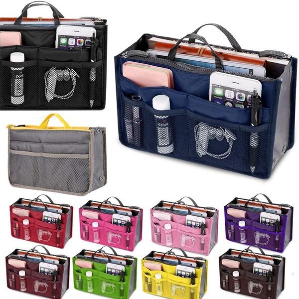 Picture of Portable Multifuncaiton Thicken Makeup Bag Nylon Organizer Cosmetic Travel Bag Multilayer Pocket Wash Bag