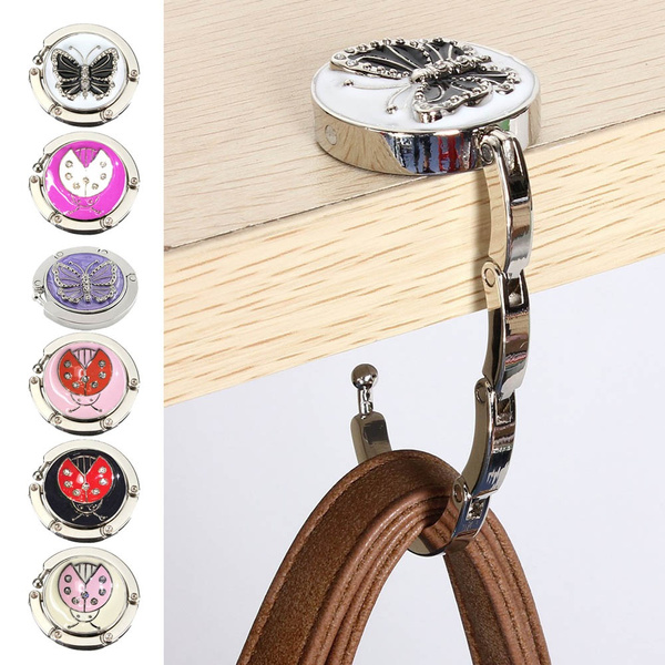 New Fashion Butterfly Beetle Purse Handbag Hook Folding Hanger
