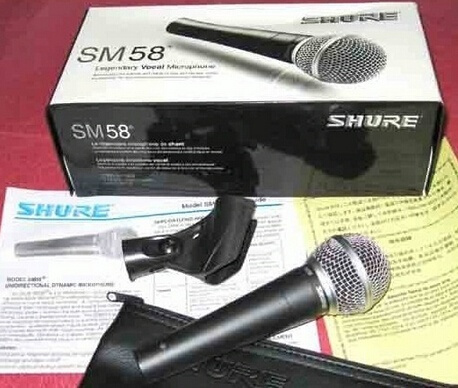 Picture of New High Quality Sm 58 58lc Sm58lc Clear Sound Handheld Wired Karaoke Microphone