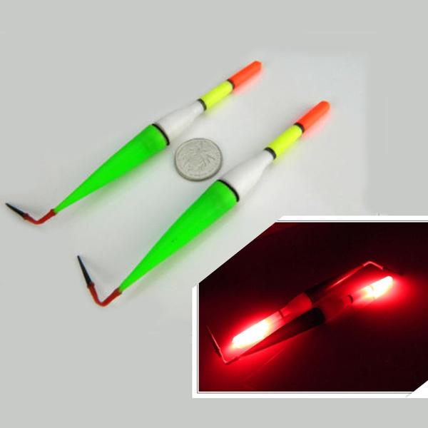 Pack of 3Pcs Night Fishing Floats Bobber Red Flashing LED Light Fish Drift Tube | Wish