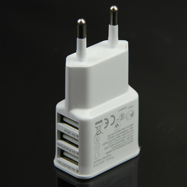 3 Ports EU Plug USB Wall Travel AC Charger Adapter For Samsung Galaxy S5 Phone