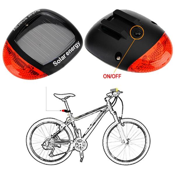 Wish | 3Mode Solar Power LED Rear Flashing Tail Light Lamp For ...