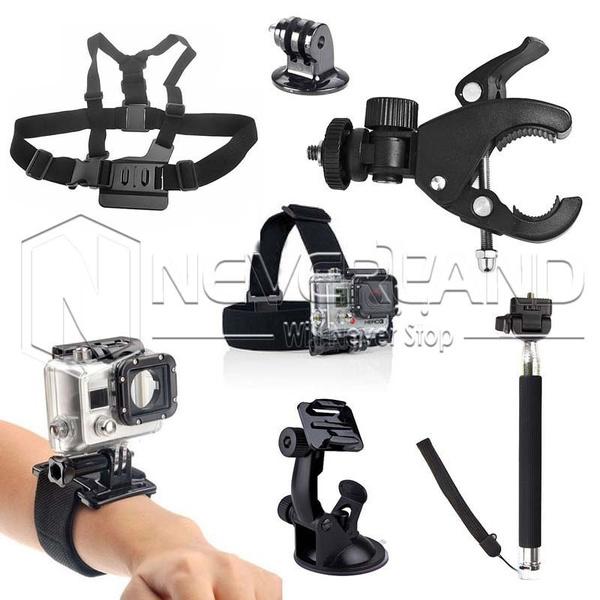 qualité incroyable Pré-commander à vendre Camera Photo Kit 7 Accessoires Perche Harnais Chest Monopode Bandeau for  GoPro HD Hero 2 3 3+ 4