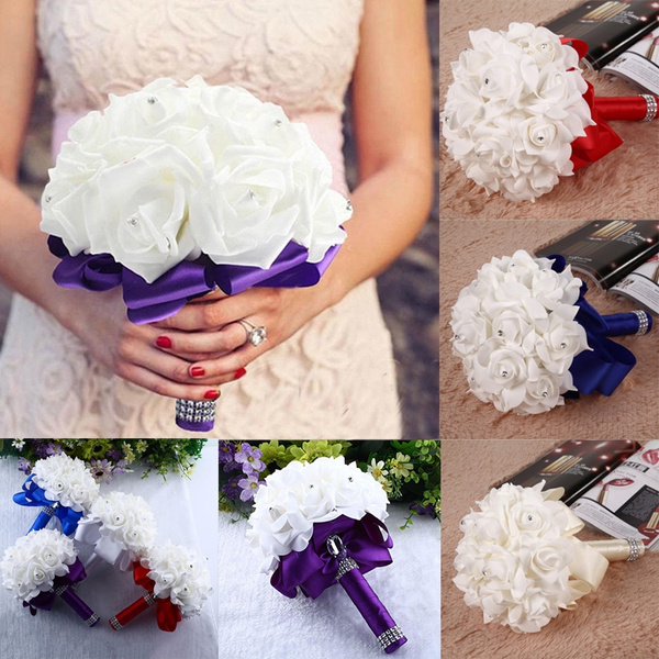 Picture of Bride Wedding Bouquet Bridesmaid Artificial Flower
