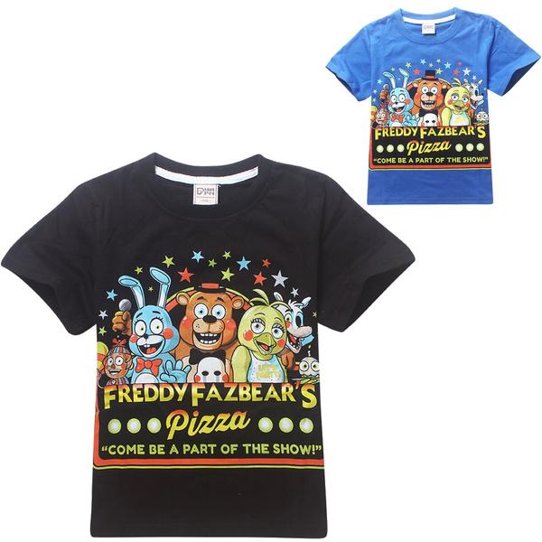 49b6c51e043a3 Cartoon Clothes FNAF Five Nights At Freddy's Boys Girls Unisex T Shirt  Freddy Bonnie Chica Foxy Fazbear Kids Tees Clothing Children T-shirts