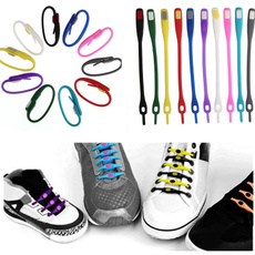 12 pcs/set Fashion Boy girl kid Men colorful no tie elastic silicone shoes laces for Sport sneaker Running
