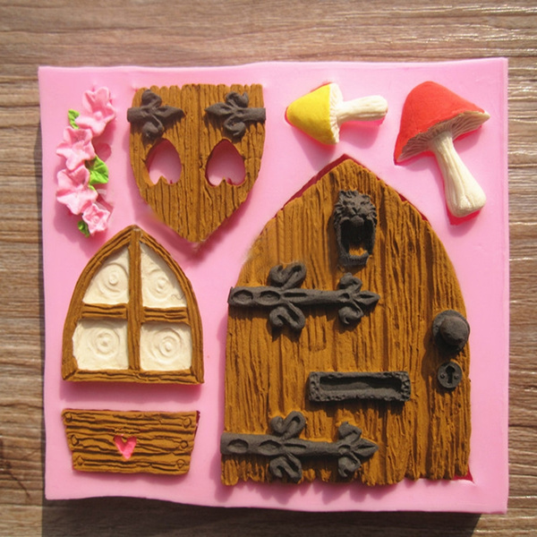 Picture of 3d Fairy House Door Silicone Fondant Mould Cake Decorating Chocolate Mold Tool