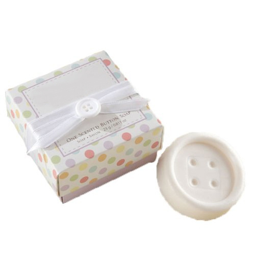 wish cute scented button shape soap savon for wedding party favors
