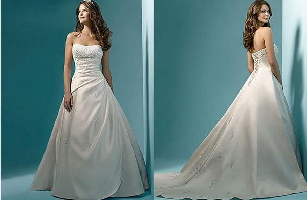 Wish | Beading Sequins Wedding dress Ivory Bridal Wedding Gowns A ...