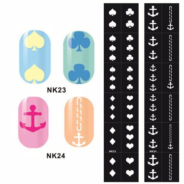 Wish | 1pc Nail Art Stencils Designs Vinyl Diecut Stickers Stamping ...
