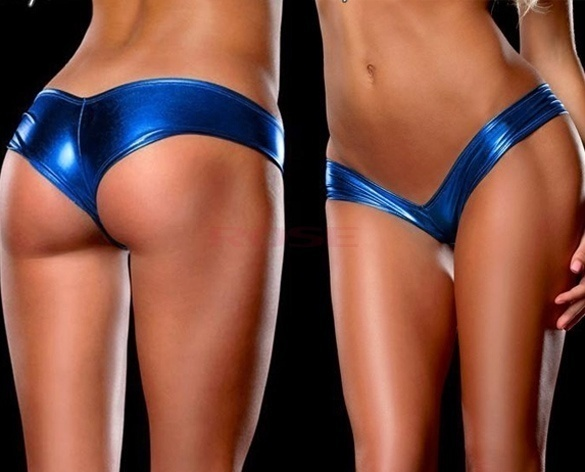 ae8be52a34 Women Sexy Metallic Lingerie G-String Micro Thong Underwear Pants Bikini  BriefsEC0003978