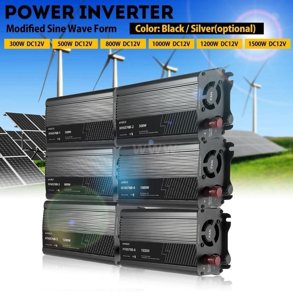 Picture of Dc12v To Ac220-240v Household Solar Power Inverter Converter Modified Sine Wave Form With Car Charger For Home Electric Appliances 300w / 500w / 800w / 1000w / 1200w / 1500w