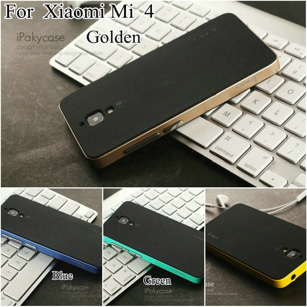 purchase cheap 18153 85c48 For Xiaomi Mi4 Case,Ipaky Brand PC Frame + Silicone Back Cover Cell phone  Case for Xiaomi Mi 4 M4